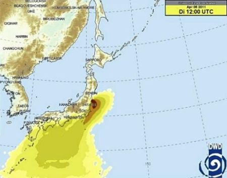 Forecasts and Trend Lines for Contaminated Water Diffusion on the Japanese Coast
