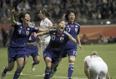 Homare Sawa Celebrates WWC Final Goal
